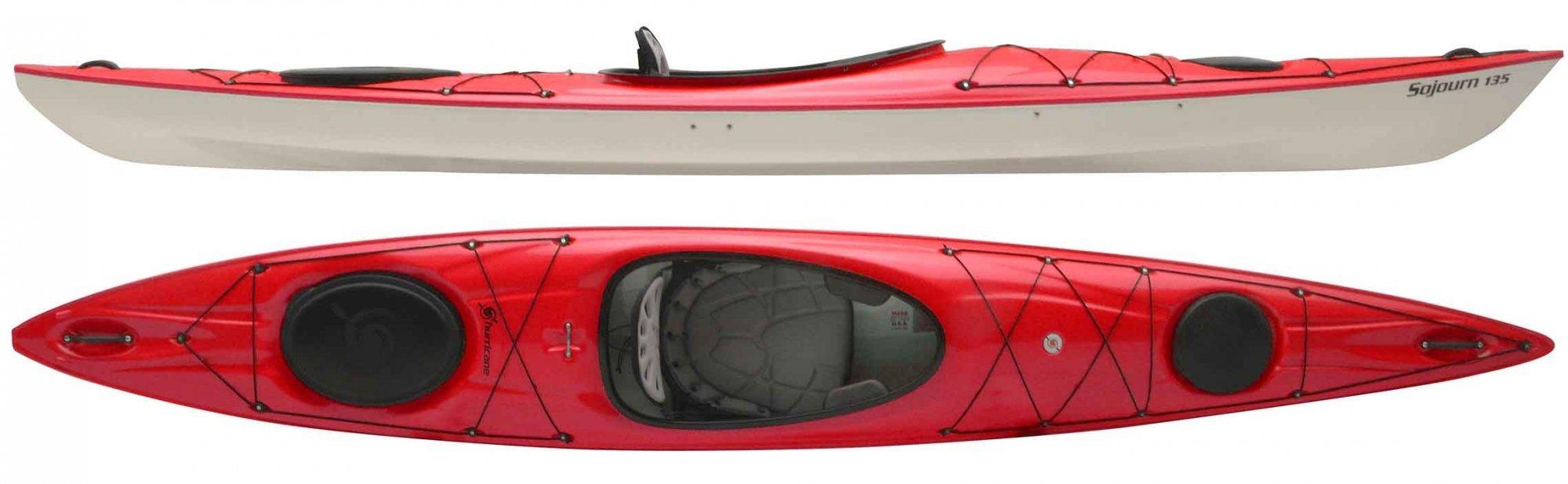 Hurricane Sojourn 135 Rudder Ready Kayak