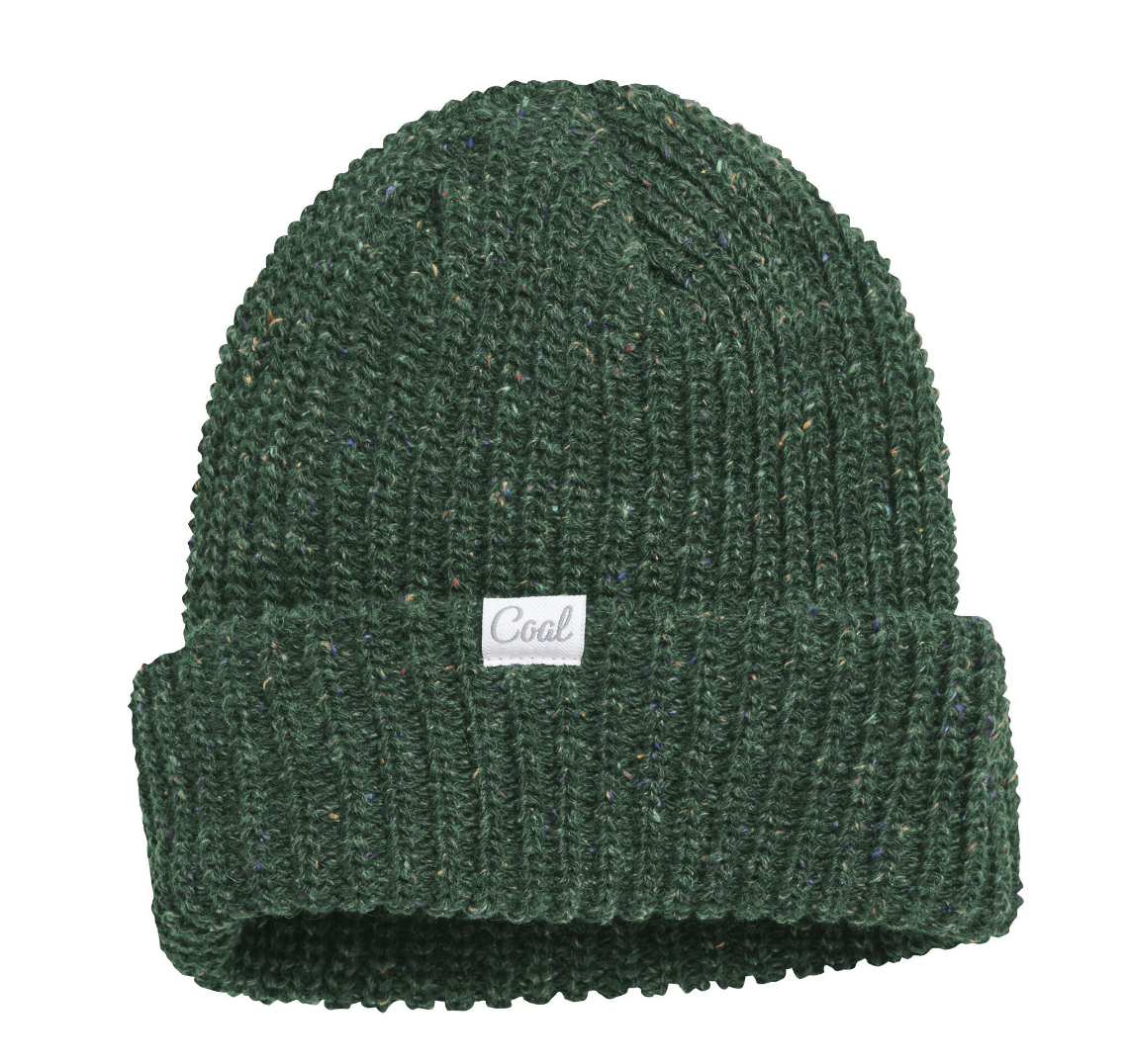 Coal The Edith Rainbow Speckle Knit Beanie - Emerald