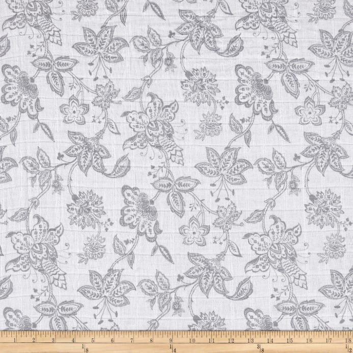Shannon Fabrics Embrace - Garden Toile - Steel