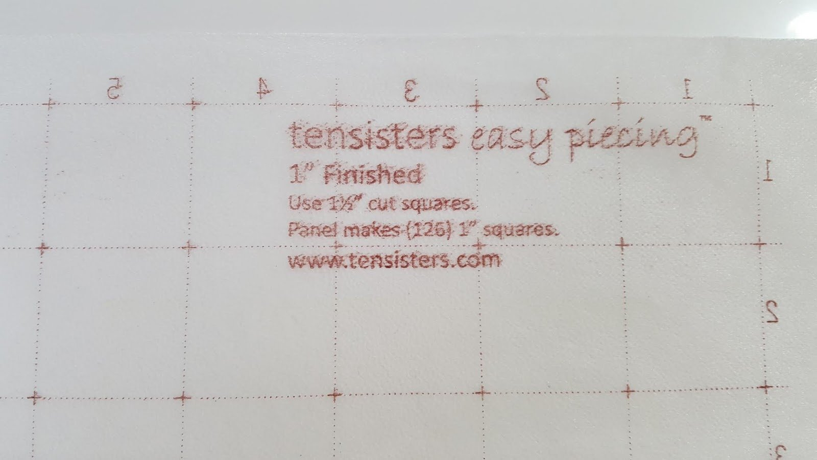 Easy Piecing Grid - 12 Panels - 1 Finished