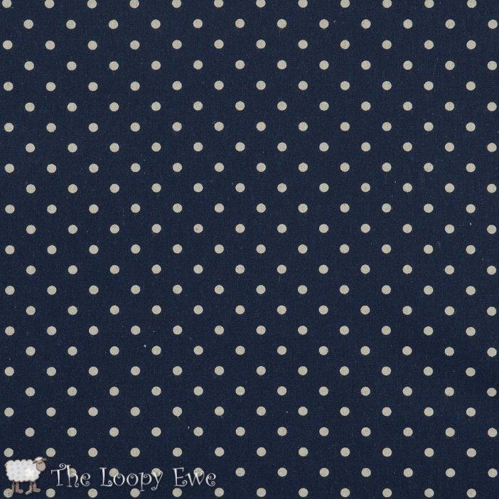 Linen Mochi Dots - Navy