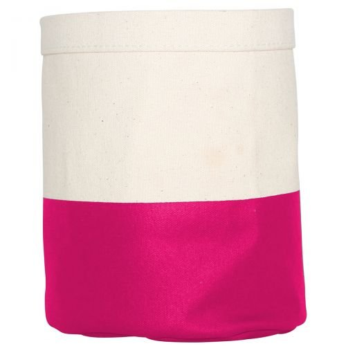 Dipped Round Mini Bucket - Hot Pink