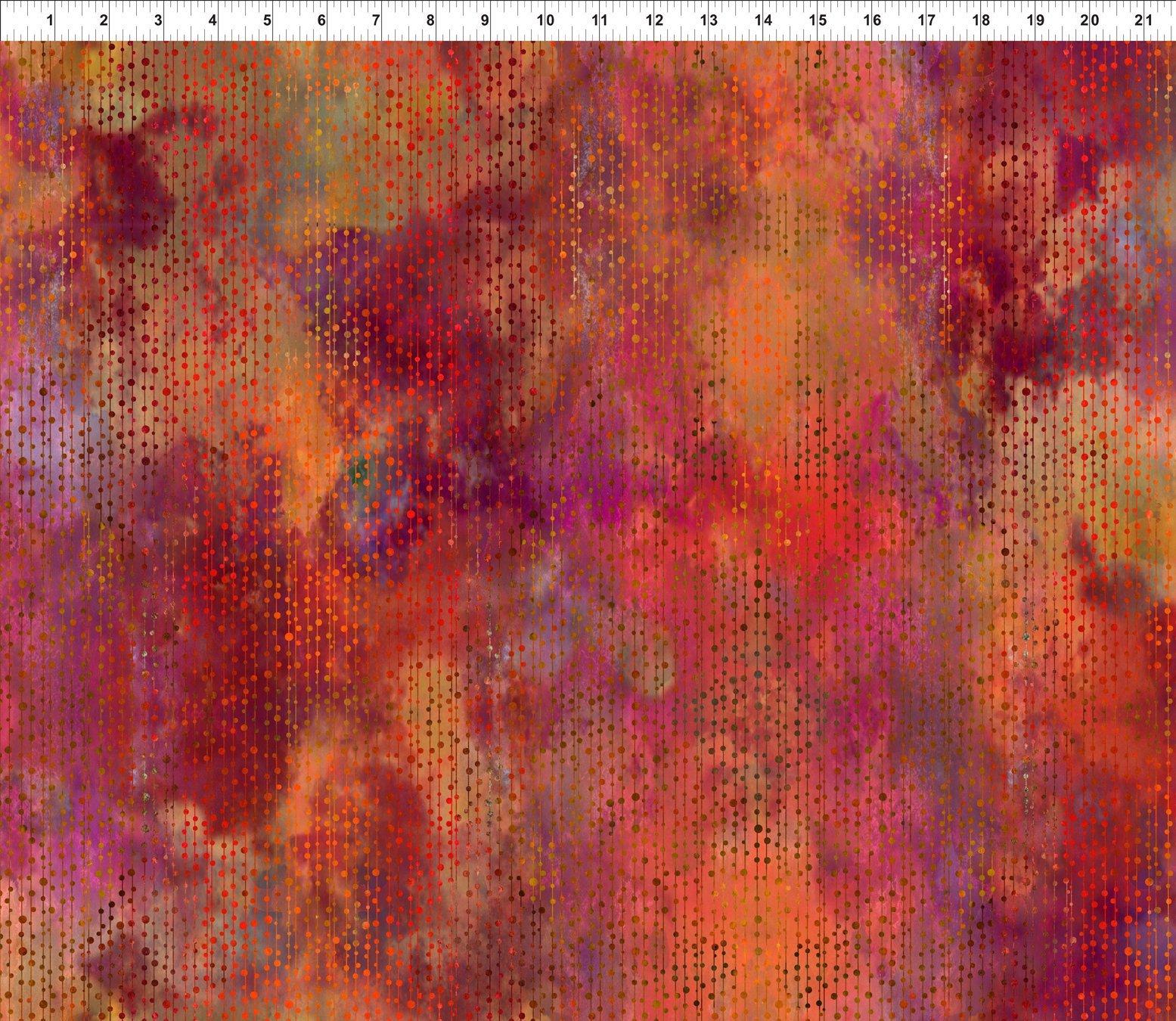 Garden of Dreams-Beads Red Glow 6JYL 1