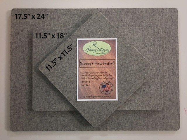 Granny's Legacy Pressing Mat 100% Wool - 11.5in x 18in
