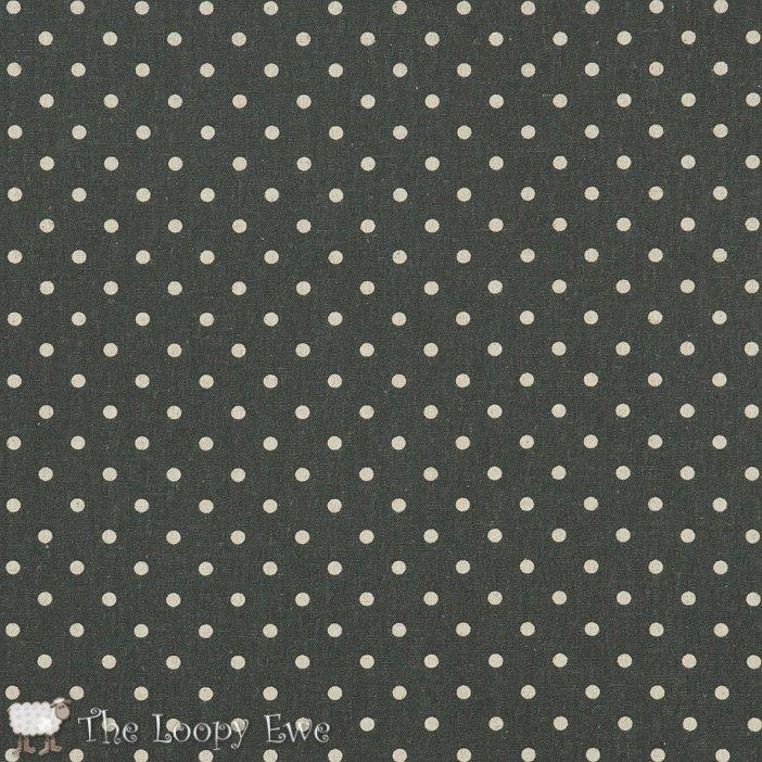 Linen Mochi Dots - Lead