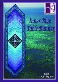 Inner Blue Table Runner (embroidery CD) by Kenny Kreations