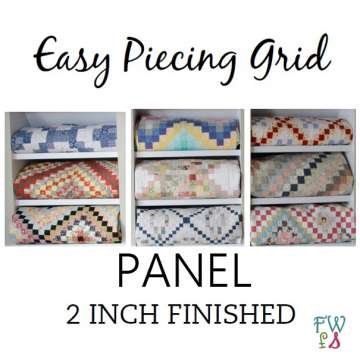 Easy Piecing Grid - 12 Panels - 2 Finished