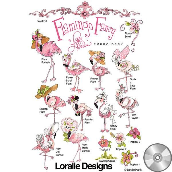Flamingo Fancy (embroidery CD)