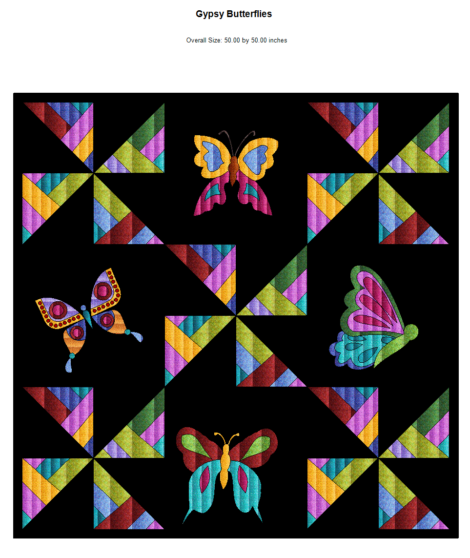 Gypsy Soul Butterfly Embroidery Designs
