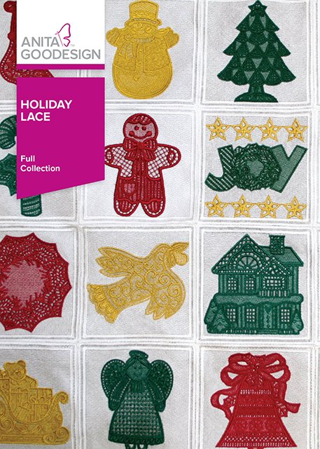 Anita Goodesign Holiday Lace (Embroidery CD)