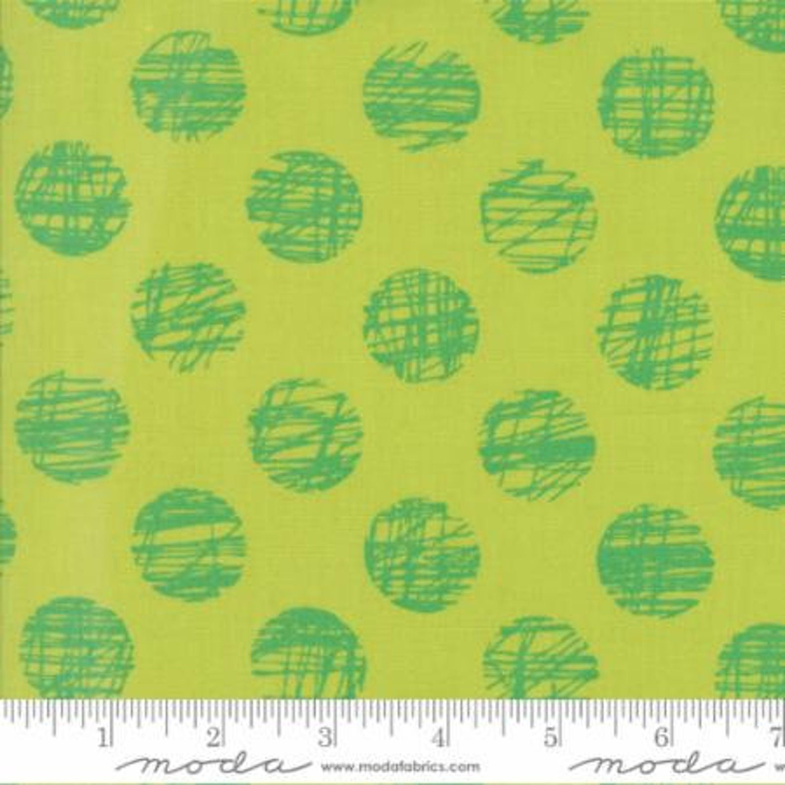 3 YARDS~Hey Dot - Sketched - Mint