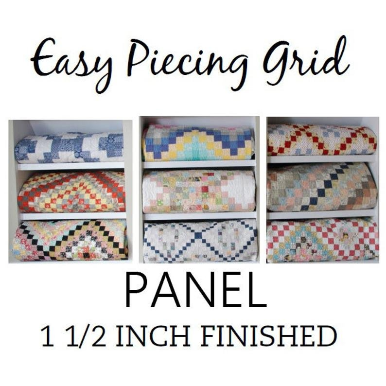 Easy Piecing Grid - 6 Panels - 1.5 Finished