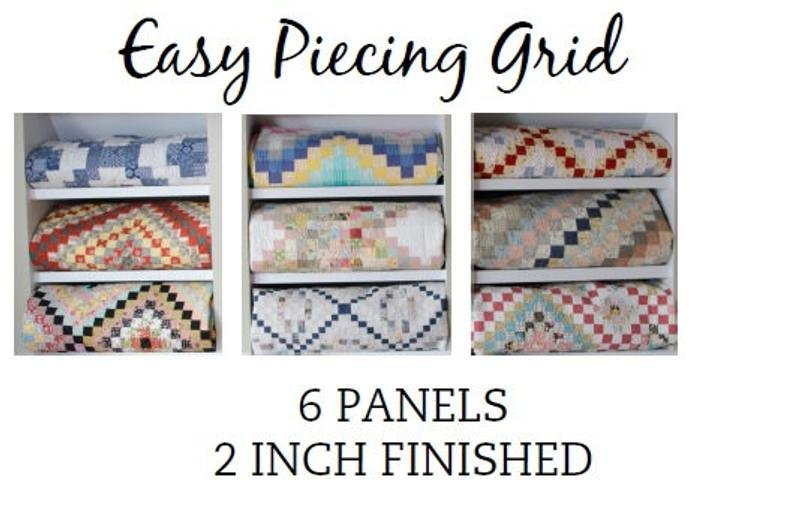 Easy Piecing Grid - 6 Panels - 2 Finished