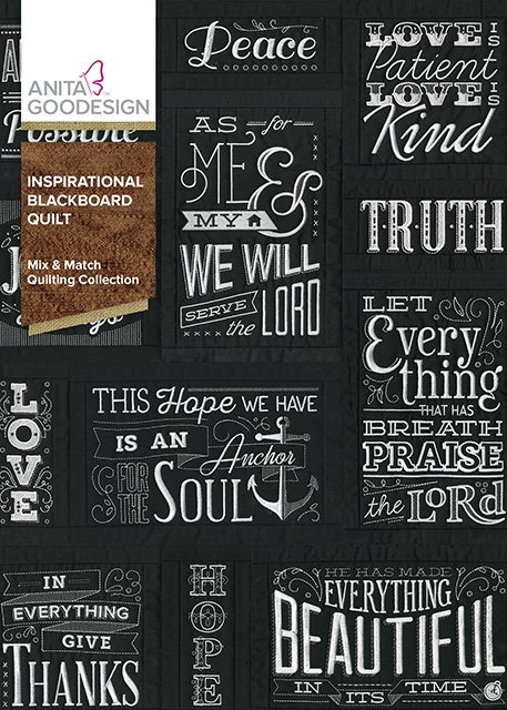 Anita Goodesign Inspirational Blackboard Quilt (Embroidery CD)