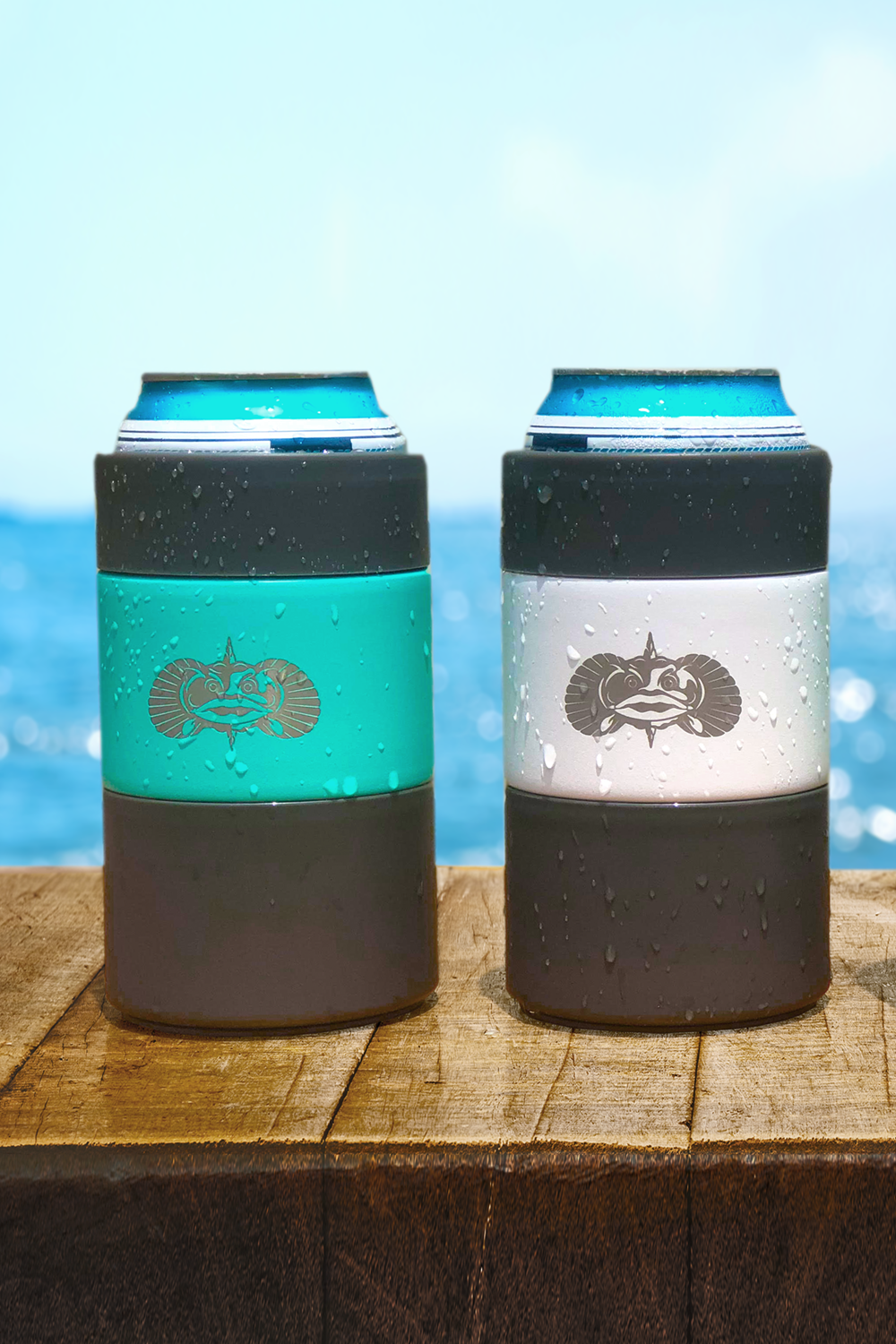 Toadfish Non-Tipping Can Cooler - Teal