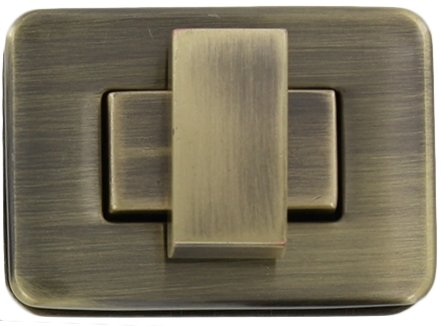 SquareTurn Lock: 1/5 Antique Brass