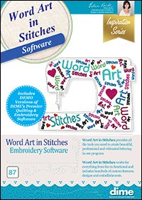 DIME Word Art In Stitches Software (CD)