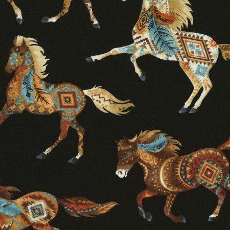 Southwest Horses Black C5036