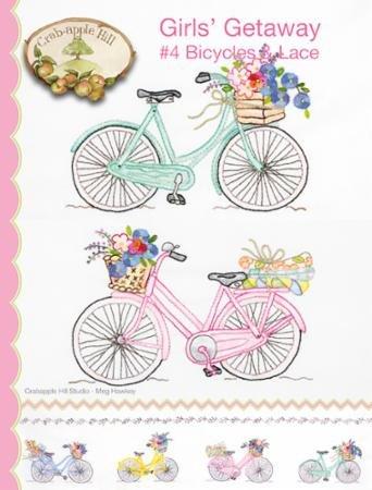 GIRLS' GETAWAY #4 BICYCLES & LACE - CRABAPPLE HILL STUDIO