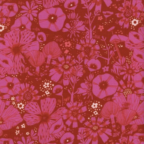 COTTON + STEEL - CAT LADY - FLORAL - PINK - 2026 1