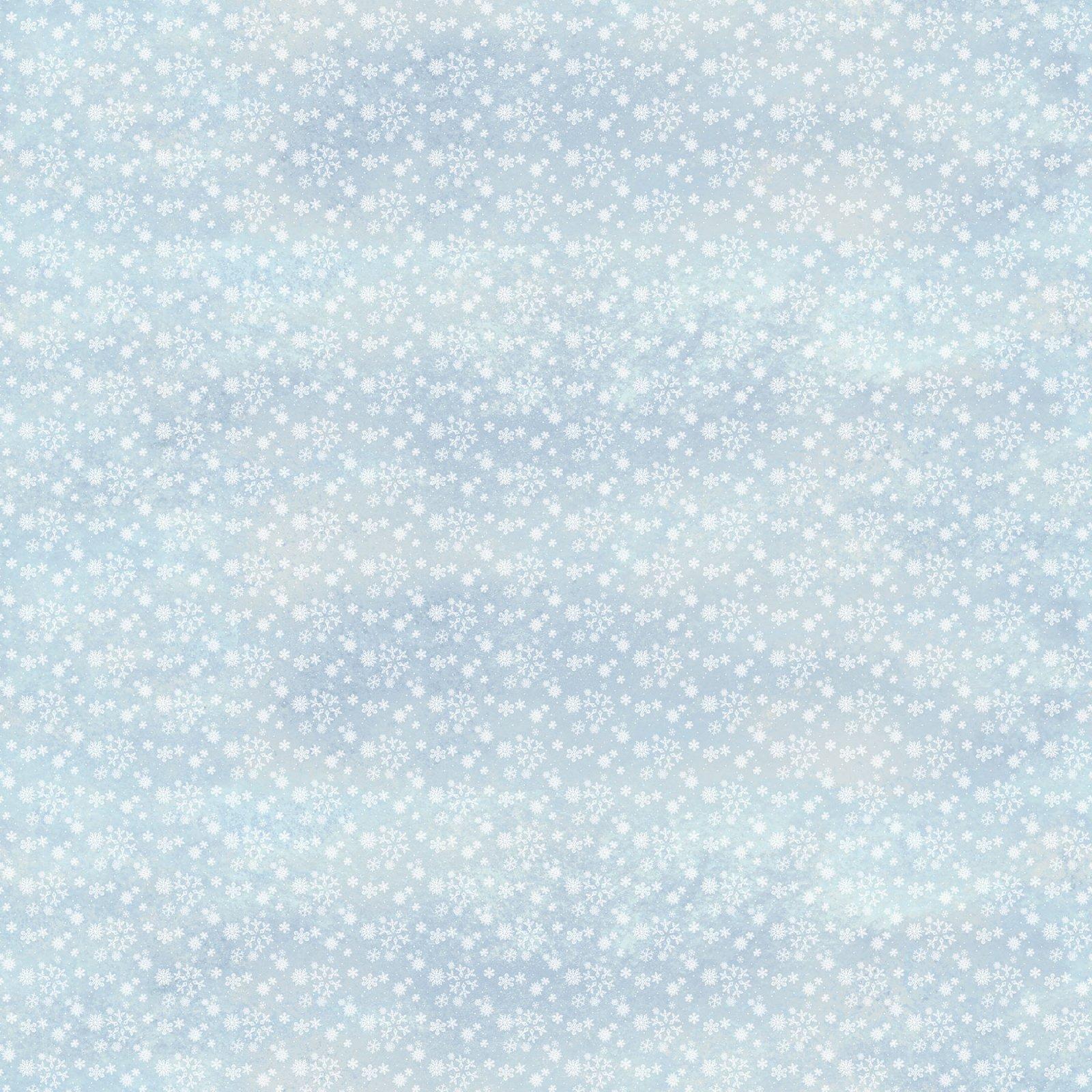 WINTER VILLAGE - SNOWFLAKES - LT. BLUE - 22380 41
