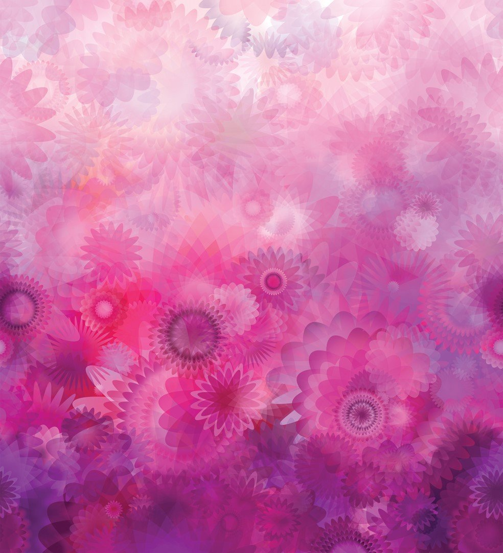 GRADIENTS - DIGITAL BLOOMS - PURPLES PINKS - 33361 11D