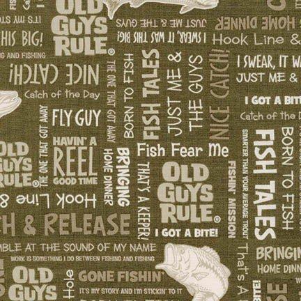 OLD GUYS RULE - FISH TALES - KHAKI - AOD 16700-214