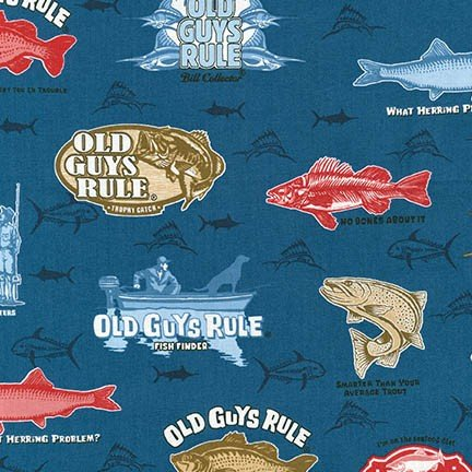 OLD GUYS RULE - LARGE FISH - NAVY - AOD 16701-9