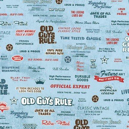 OLD GUYS RULE - SLOGANS - DENIM - AOD 16704-67