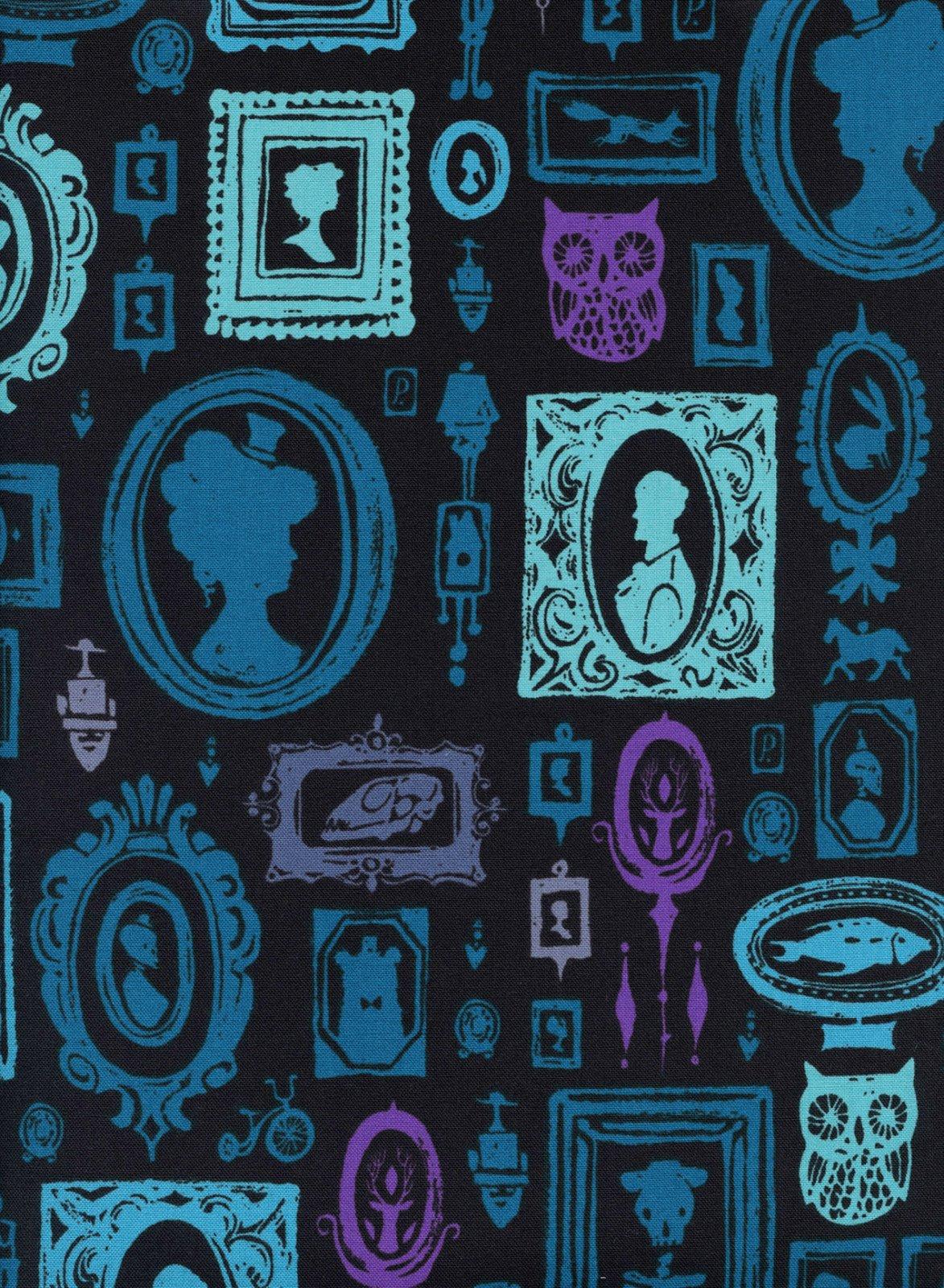 COTTON + STEEL - ECLIPSE -  HAUNTED HALLWAY - BLUE - 5191 001