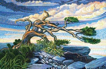 ARTISAN SPIRIT DREAMSCAPE - SINGLE PANEL - WINTER TREE - DP21296 3
