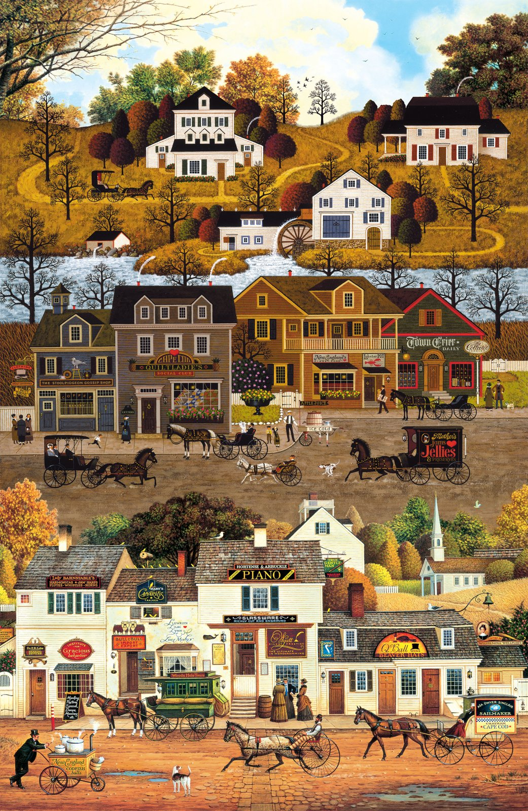 AUTUMN VILLAGE - 24 PANEL - DIGITAL PRINT - 22381 12