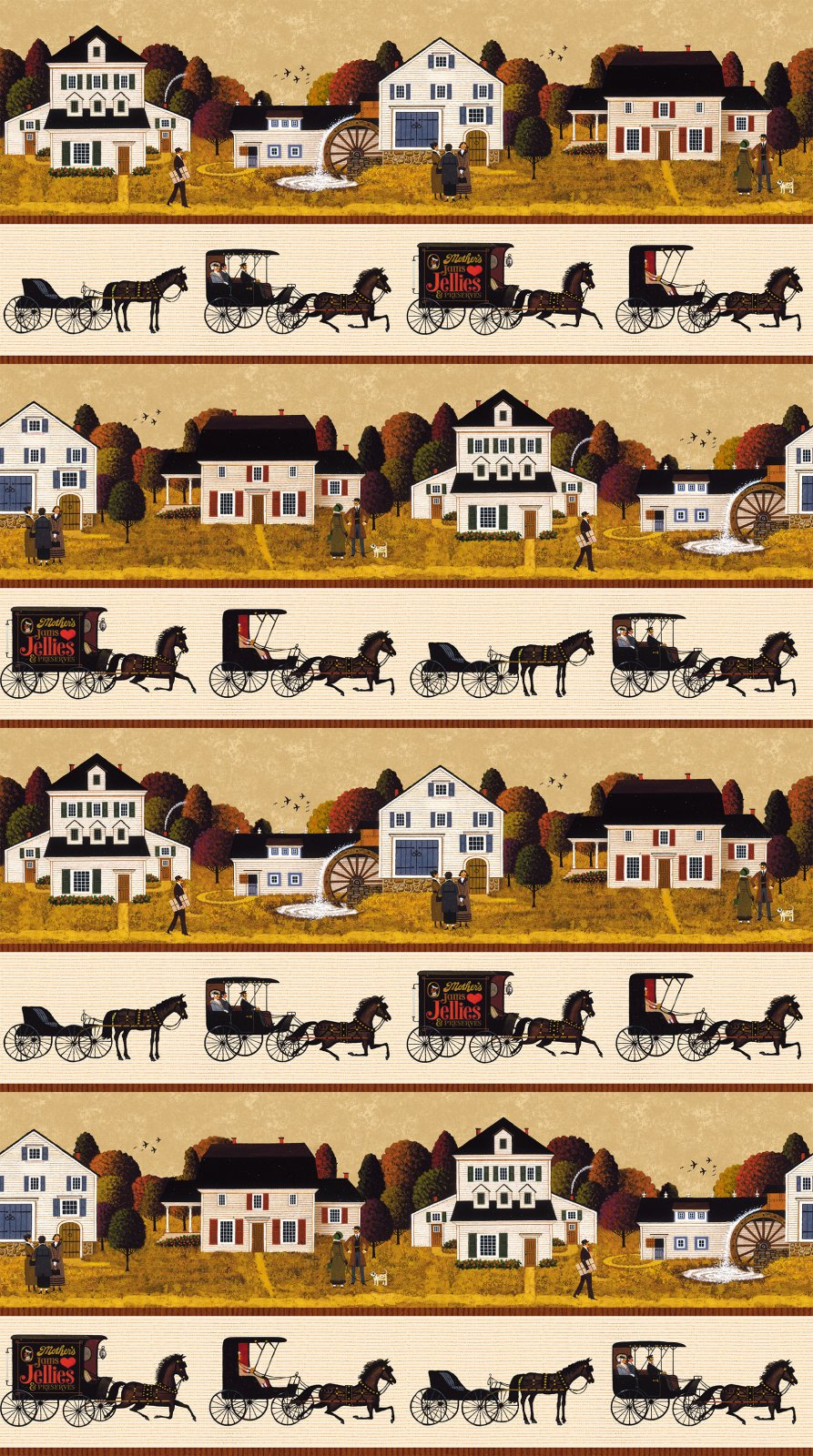 AUTUMN VILLAGE - STRIPE - DIGITAL PRINT - 22384 12