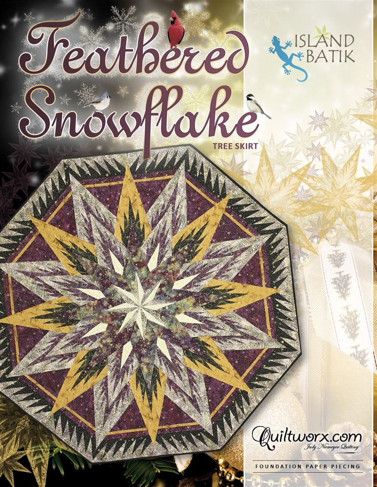 FEATHERED SNOWFLAKE TREE SKIRT - PATTERN - JUDY NIEMEYER