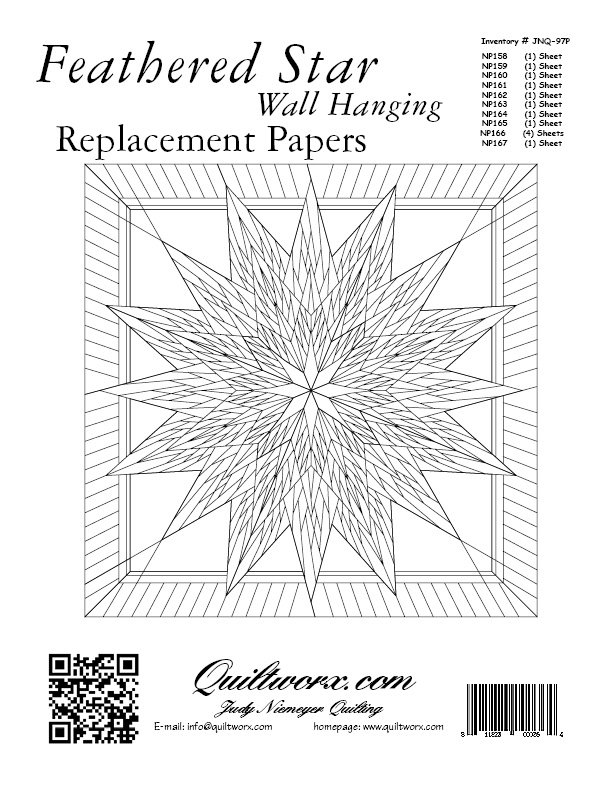 FEATHERED STAR WALL HANGING - REPLACEMENT PAPERS