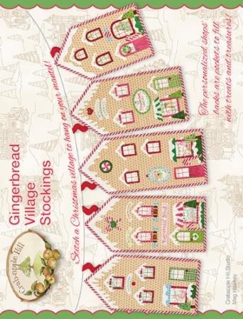 GINGERBREAD VILLAGE STOCKINGS - CRABAPPLE HILL STUDIO