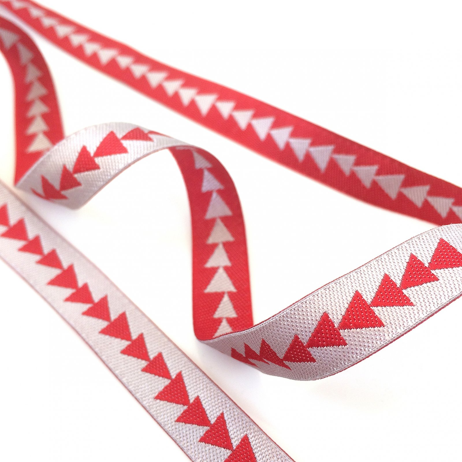 RENAISSANCE RIBBONS - ARROWHEAD - RED & SILVER