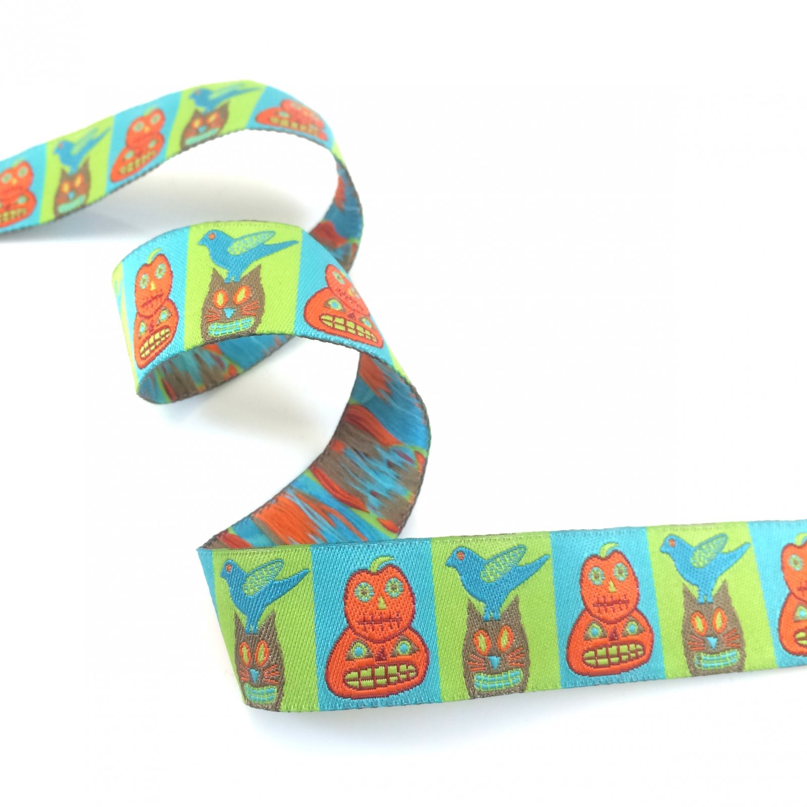 RENAISSANCE RIBBONS - HALLOWEEN - ORANGE & TURQUOISE
