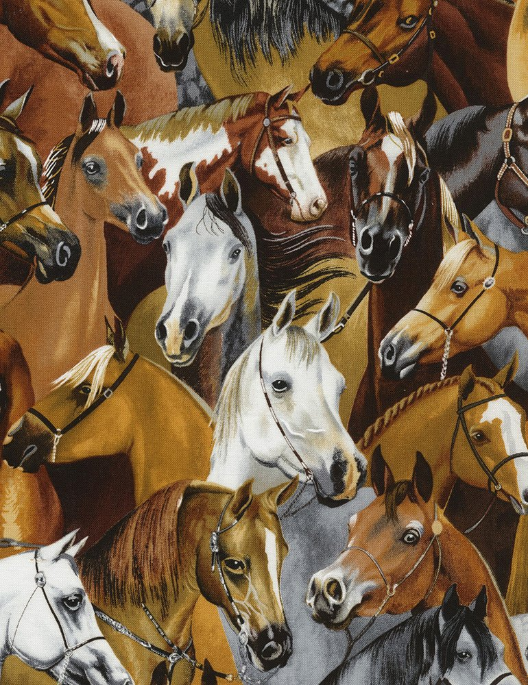 WILD WILD WEST - STACKED HORSES - HORSE - RUTH-C5486