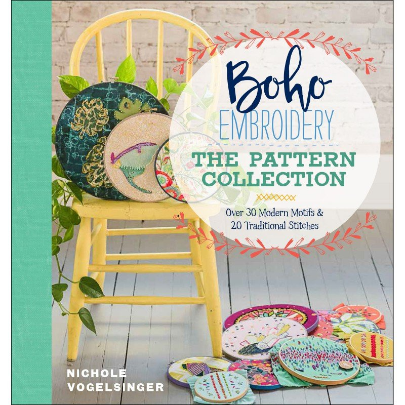 BOHO EMBROIDERY: THE PATTERN COLLECTION - BOOK - TAUTON BOOKS