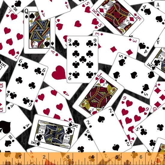 Man Cave - Cards Black Background 52411-2