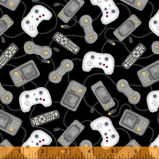 Man Cave - Controllers Black Background 52415-2