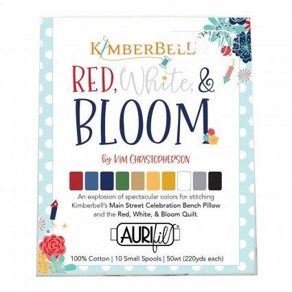 Kimberbell Red White & Bloom Aurifil Thread Assortment