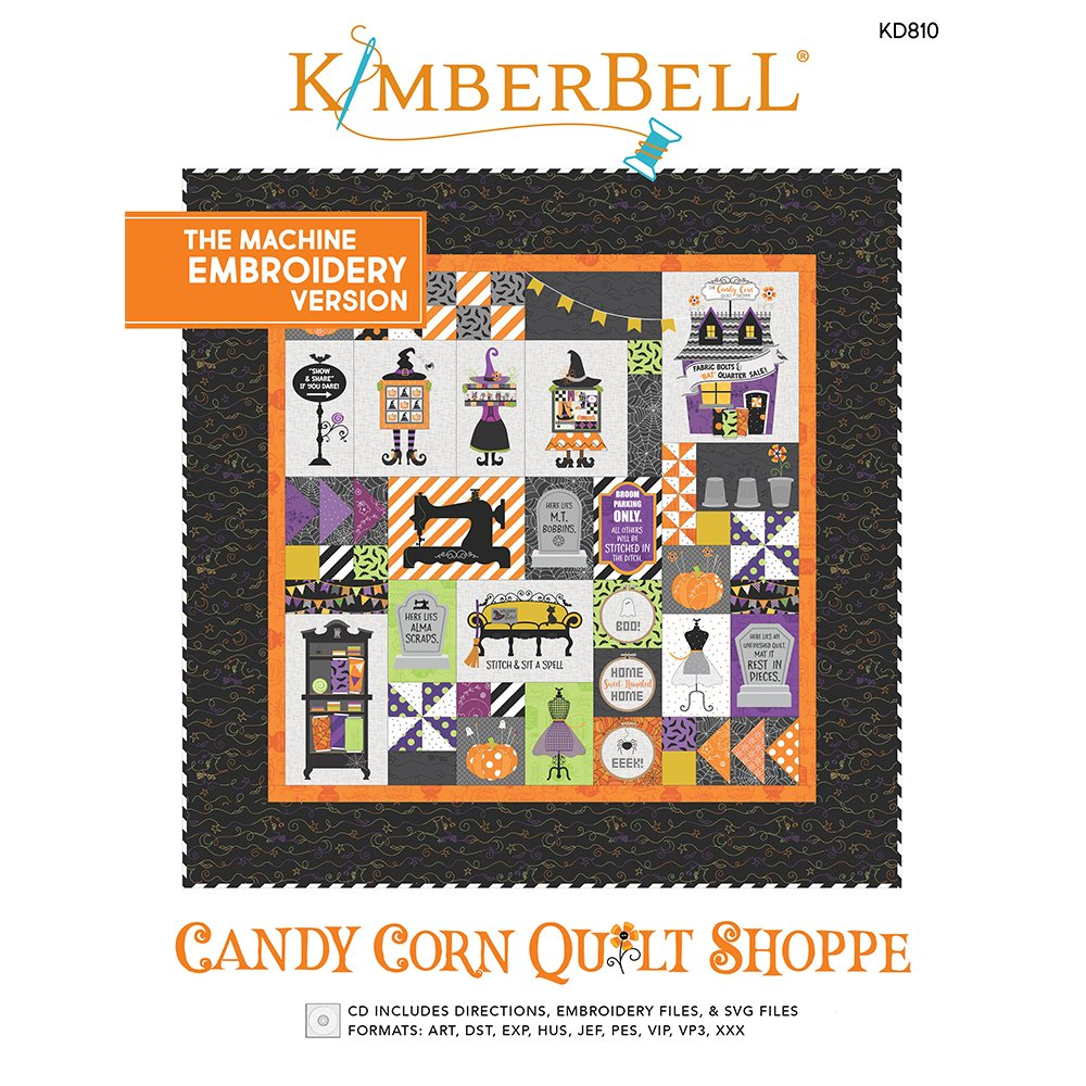 Kimberbell Candy Corn Quilt Shoppe - Machine Embroidery Version