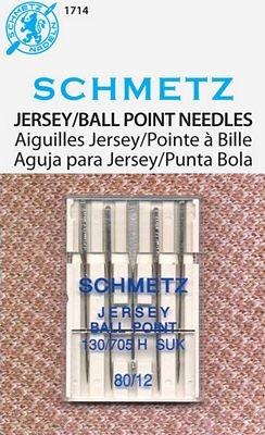 #1714 Schmetz Jersey Ballpoint 80/12