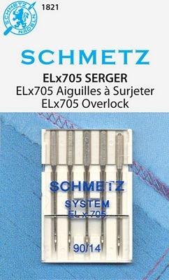 #1821 Schmetz Overlock ELX705 5 pk 14/90