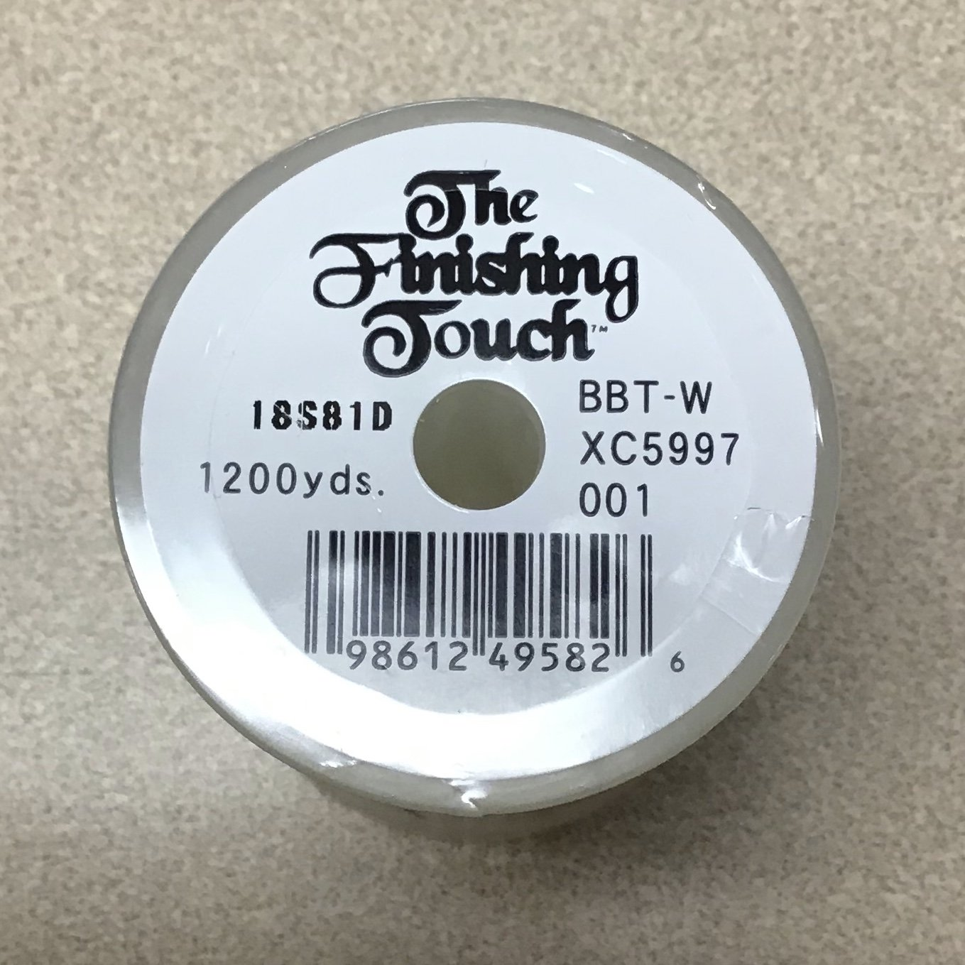 Bobbin Thread - 60wt Finishing Touch 1200yd White