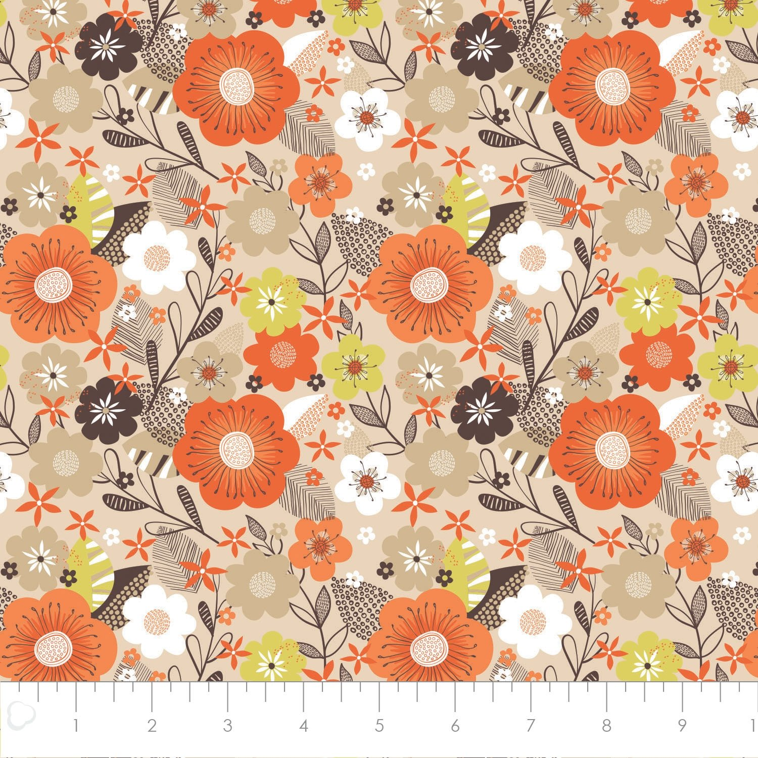 Camelot Fabrics Flower Market White Blooms 91180101 01
