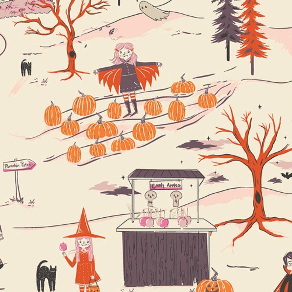 Art Gallery Fabrics Spooky 'n Sweet Peppermint's Tale Starlight SNS-13000
