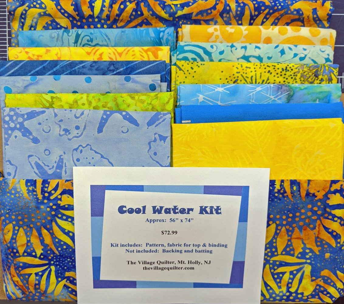Cool Water Quilt Kit - Blue and Yellow Colorway